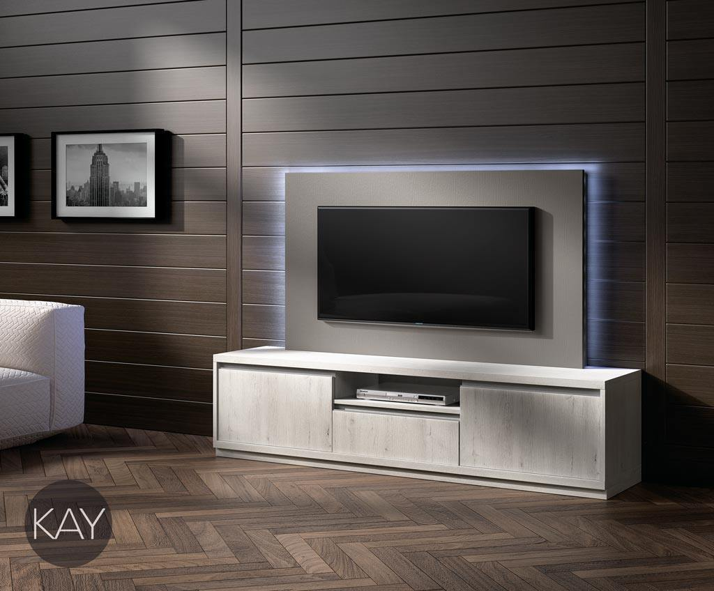 Mueble tv y panel tv de la colecci n kay ideal para ti for Muebles salon para television