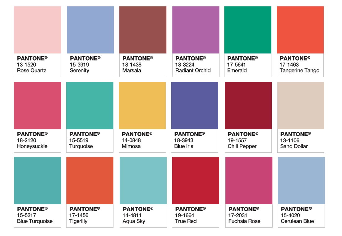 Colores Pantone 2016 combinables con Rose Quartz y Serenity